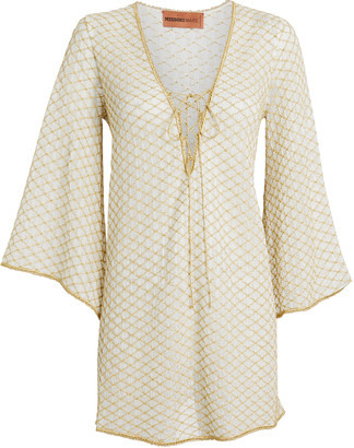 Missoni Mare Lurex-Flecked Knit Mini Kaftan