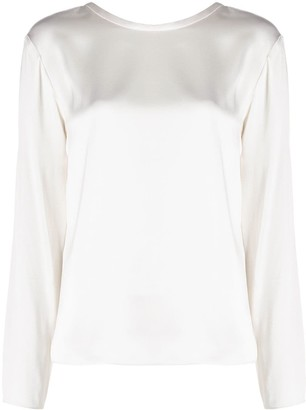 Tom Ford Long-Sleeve Satin Blouse