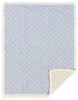 Living Textiles Baby Muslin Jacquard Blanket