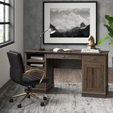 Beachcrest Home Stackhouse Executive Desk Color: Iron Oak