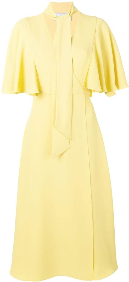 Valentino Scarf Neck Dress