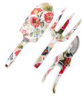 Mackenzie Childs Three-Piece Morning Glory Gardening Tool Set