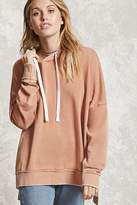 Forever 21 Contemporary Acid Wash Hoodie