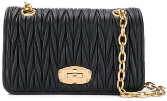 Miu Miu matelassé leather cross body bag