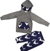 Balakie Baby Boy Girl Antlers Pattern Hooded Tops Jacket +Pants Suit