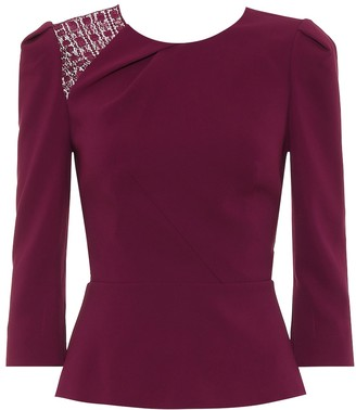 Roland Mouret Ashridge stretch-crepe shirt