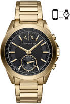 Armani Exchange Men's Connected Gold-Tone Stainless Steel Bracelet Hybrid Smart Watch 44mm