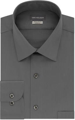 Van Heusen Men's Slim-Fit Lux Sateen Stretch Sateen Dress Shirt