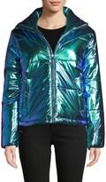 C&C California Metallic Zip-Front Puffer Jacket