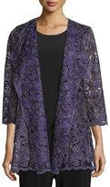 Caroline Rose Luxe Embroidery Cardigan, Plus Size