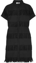 Prism Negril Fringed Cotton-gauze Shirt Dress - Black