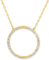 Giani Bernini Cubic Zirconia Circle Pendant Necklace in Gold-Plated Sterling Silver, Only at Macy's