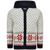 Baby Graziella Baby GraziellaBoys Ivory & Navy Wool Fair Isle Zip Up Top