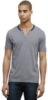 Kenneth Cole Mini Stripe Henley T-Shirt
