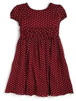 Burberry Little Girl's Silk Polka Dot Dress
