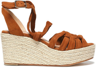 Castaner Knotted Suede Espadrille Wedge Sandals