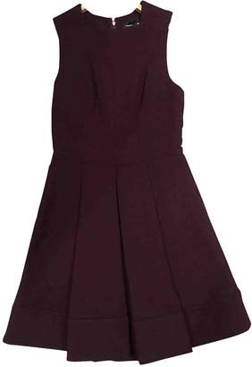 Proenza Schouler Burgundy Wool Dresses