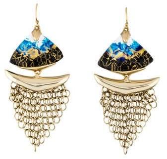 Alexis Bittar Lucite Mesh Drop Earrings