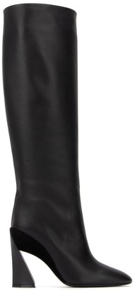 Salvatore Ferragamo Sculptured Heel Knee-Length Boots