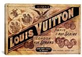 iCanvas 'Vintage Louis Vuitton Advertisement' Giclee Print Canvas Art