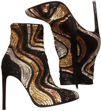 Saint Laurent Multicolour Glitter Ankle boots