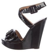Chloé Patent Leather Wedge Sandals