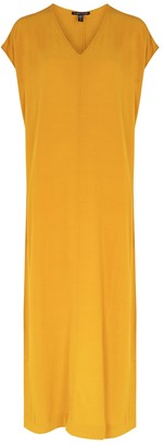 Eileen Fisher Marigold Tencel-blend midi dress