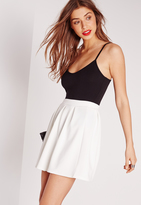 Missguided Petite Scuba Skater Skirt White