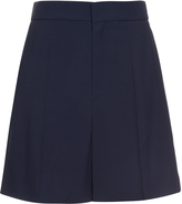 Chloé Wide-leg tailored cady shorts