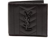 Saint Laurent Monogrammed bi-fold leather wallet