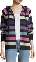 Marc Jacobs Zip-Front Striped Hooded Jacket