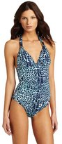 Hermanny Women's Leopard One-Piece Swimsuit