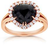 Kobelli Jewelry Kobelli 2 3/4 CT TW Rose-Cut Black and White Diamond 14K Rose Gold Halo Ring