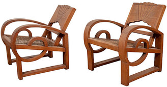 One Kings Lane Vintage Pair of Teak Country Chairs from Madura - FEA Home