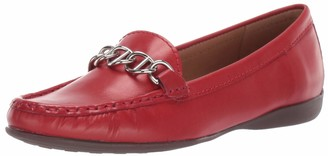 Driver Club Usa Women's Genuine Leather Chain Detail Driving Loafer