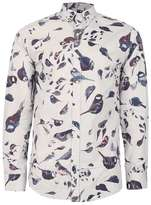 Selected Sand Bird Print Shirt