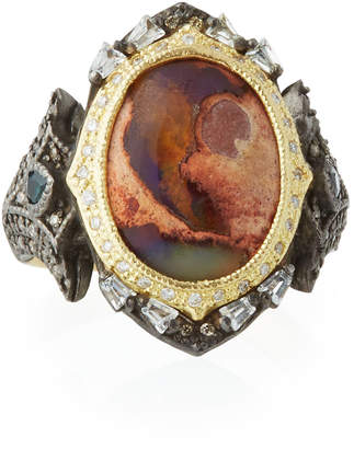 Armenta Old World Mexican Fire Opal & Mixed Stone Ring