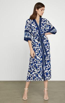BCBGMAXAZRIA Floral Longline Wrap Jacket