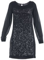 Patrizia Pepe Long-sleeves Dress With Sequins Applications