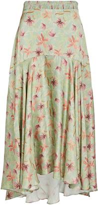 Alexis Bazli Floral Midi Skirt