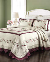 Martha Stewart Collection Cotton Prairie House Morning Sky Twin Bedspread, Created for Macy's