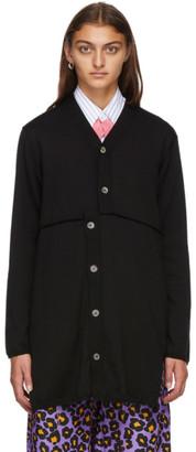 Comme des Garçons Homme Plus Black Wool Long Cardigan
