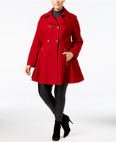 Laundry by Shelli Segal Plus Size Flared Peacoat