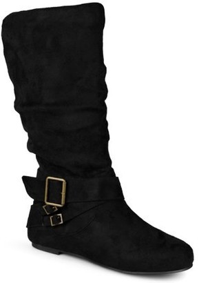 Brinley Co. Wide-Calf Buckle Mid-Calf Slouch Boots (Women's)