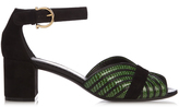 Salvatore Ferragamo Reptile-effect leather sandals