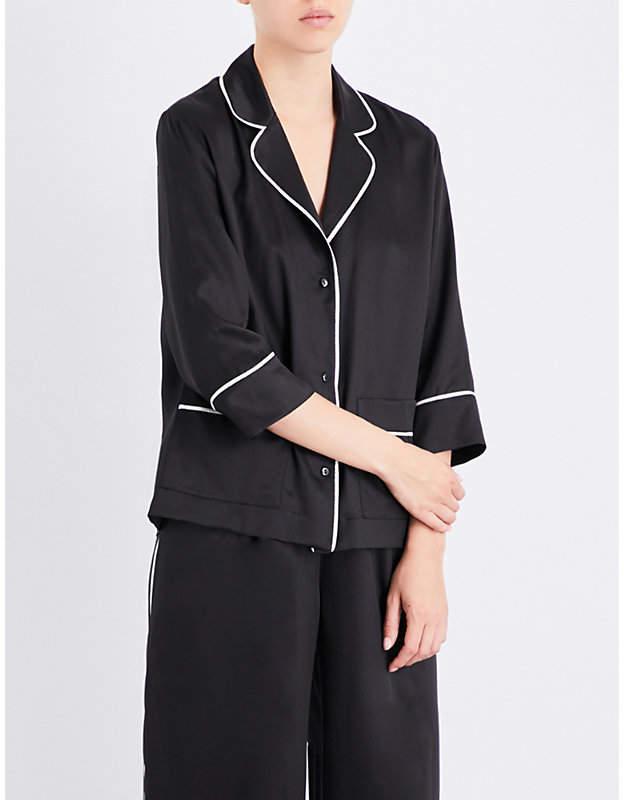 Carine Gilson Relaxed-fit silk-twill pyjama set