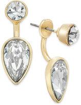 ABS by Allen Schwartz Gold-Tone Crystal Earring Jacket Earrings