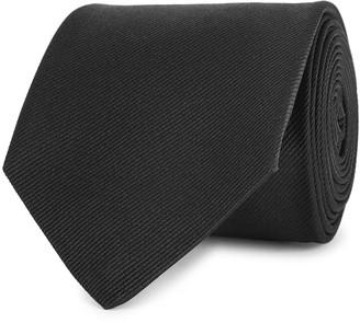 Alexander McQueen Black embroidered silk tie