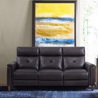 Red Barrel Studio Yoshioka Leather Reclining Sofa Red Barrel Studio Upholstery Color: Pewter