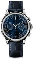 Corniche Watches Mens Chronograph Stainless Steel With Blue Dial